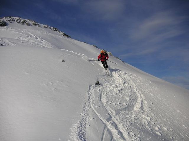 Foto: Salzprinz / Skitour / Über die Ausseer Sandlingalm auf den Sandling / Abfahrt nach Süden / 09.01.2007 22:57:06