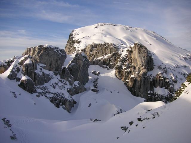 Foto: Salzprinz / Skitour / Über die Ausseer Sandlingalm auf den Sandling / Gelände Südabfahrt / 09.01.2007 22:57:42