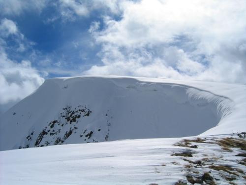 Foto: Christian Suschegg / Skitour / Über das Steinkar auf den Hochgrößen (2115m) / Am Gipfelplateau des Hochgrößen / 10.01.2007 13:06:27