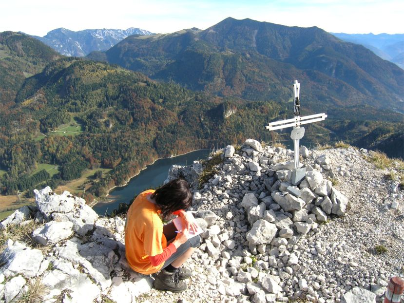 Foto: Benedik Herbert / Wander Tour / Käferwandl - ein etwas versteckter Gipfel / Käferwandl - Gipfel / 10.01.2007 19:47:21
