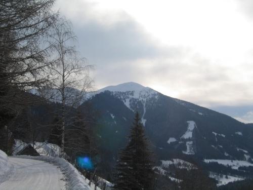 Foto: Christian Suschegg / Ski Tour / Horningalm - Schüttkogel (2049m) / Ausblick auf den Schüttkogel bei der alternativen Anfahrt aus Aigen im Ennstal Richtung Oppenberg. / 11.01.2007 13:38:35