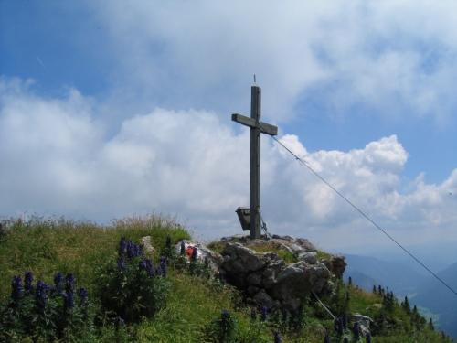 Foto: Christian Suschegg / Wandertour / Zehnerkarspitze - Gamsspitzl - Gamsleitenspitze - Herbertspitze / Das Gipfelkreuz auf der Zehnerkarspitze. / 19.01.2007 09:02:58