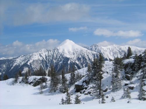 Foto: Christian Suschegg / Schneeschuh Tour / Ebeneck - Ochsenkopf - Zinken - Speiereck / Blick zum nahen Gumpeneck in den benachbarten Wölzer Tauern. / 19.01.2007 14:10:38