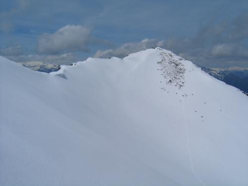 Foto: Christian Suschegg / Schneeschuhtour / Ebeneck - Ochsenkopf - Zinken - Speiereck / Steiler Abstieg über die Südostflanke des Zinken und noch steilerer Aufstieg über den Nordosthang auf das Speiereck. / 19.01.2007 14:08:35