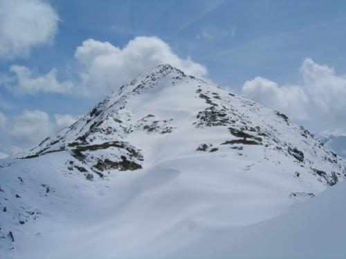Foto: Christian Suschegg / Schneeschuh Tour / Ebeneck - Ochsenkopf - Zinken - Speiereck / Aufstieg am Nordwest-Rücken (rechts) auf den Zinken. / 19.01.2007 14:14:18