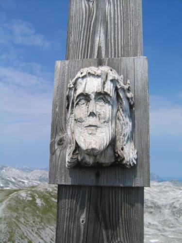 Foto: Christian Suschegg / Wander Tour / Edelweißkogel - Fritzerkogel - Bleikogel / Beim Gipfelkreuz am Bleikogel. / 20.01.2007 16:26:01