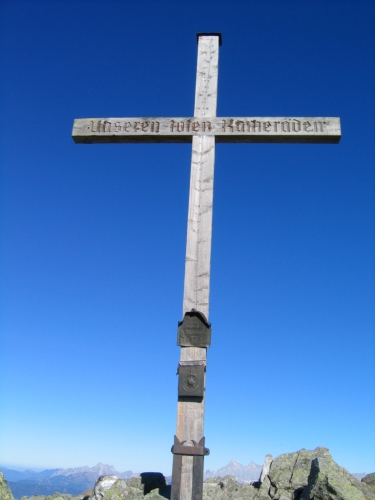 Foto: Christian Suschegg / Wander Tour / Seekarspitze - Hundskogel / Das Gipfelkreuz auf der Seekarspitze. / 20.01.2007 18:25:25