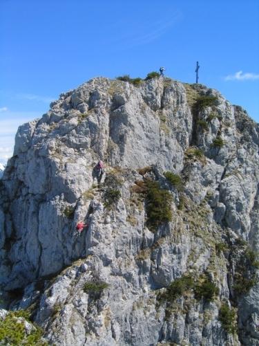 Foto: Christian Suschegg / Wander Tour / Überschreitung von Gwöhnlistein und Hechlstein / Leichte Kletterei über den letzten Felsaufschwung auf den Hechlstein / 21.01.2007 11:38:34