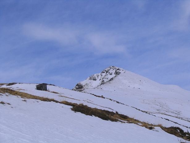Foto: Andreas Koller / Wander Tour / Drei-Gipfel-Tour aus dem Schöttelgraben (2260 m) / Der S-Grat auf den Hühnerkogel / 22.01.2007 03:17:55