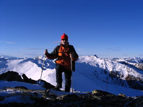Foto: Andreas Koller / Wander Tour / Drei-Gipfel-Tour aus dem Schöttelgraben (2260 m) / Am Steineck-Gipfel / 22.01.2007 03:19:07