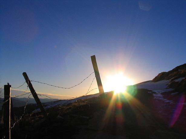 Foto: Andreas Koller / Wander Tour / Drei-Gipfel-Tour aus dem Schöttelgraben (2260 m) / Am Rückweg zur Hühnerbachhütte / 22.01.2007 03:19:26