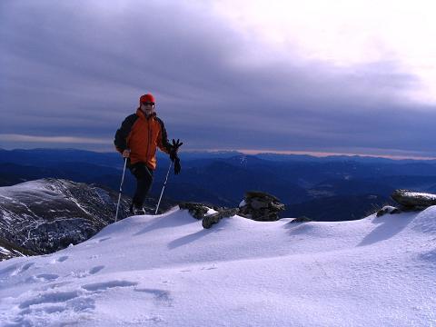 Foto: Andreas Koller / Wander Tour / Drei-Gipfel-Tour aus dem Schöttelgraben (2260 m) / Anstieg über den S-Grat auf den Hühnerkogel / 22.01.2007 03:18:09