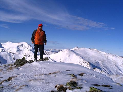 Foto: Andreas Koller / Wander Tour / Drei-Gipfel-Tour aus dem Schöttelgraben (2260 m) / Am Hühnerkogel gegen N / 22.01.2007 03:18:21