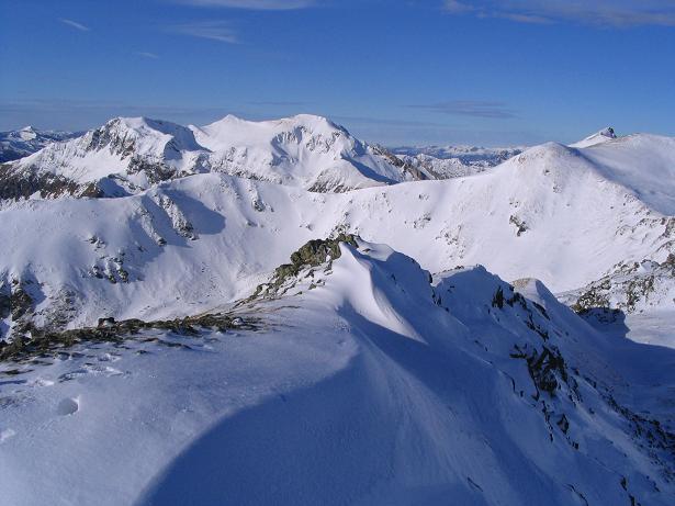Foto: Andreas Koller / Wander Tour / Drei-Gipfel-Tour aus dem Schöttelgraben (2260 m) / Blick nach N auf den Hohenwart (2363 m) und den Großen Hansl (2315 m) / 22.01.2007 03:18:31