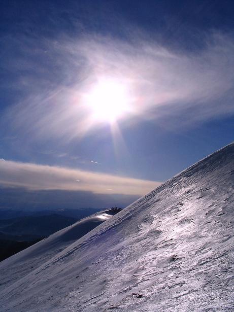 Foto: Andreas Koller / Wander Tour / Drei-Gipfel-Tour aus dem Schöttelgraben (2260 m) / Steilere Passage beim Abstieg vom Hühnerkogel / 22.01.2007 03:18:39