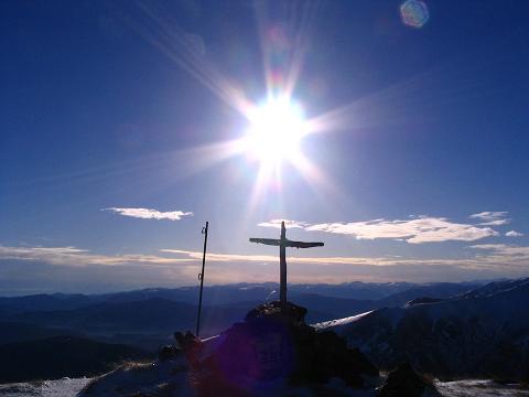 Foto: Andreas Koller / Wander Tour / Drei-Gipfel-Tour aus dem Schöttelgraben (2260 m) / Am Gipfel des Kilnprein / 22.01.2007 03:18:45