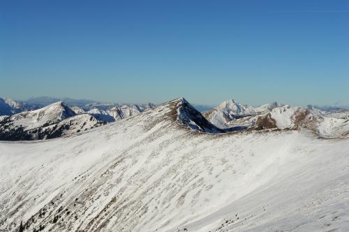 Foto: Christian Suschegg / Ski Tour / Schattnerzinken (2156m) / Blick vom Schattnerzinken Richtung Nordosten über das Sommereck hinweg. / 23.01.2007 10:17:35