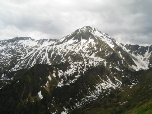Foto: Christian Suschegg / Wander Tour / Über die Knallalm auf Badstubenspitz und Scheiben / Der Schnee am Großen Knallstein kann sich bis in den Sommer hinein halten. / 23.01.2007 12:27:13