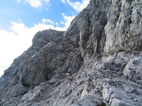 Foto: Christian Suschegg / Wander Tour / Über den Steiglpaß auf den Steiglkogel / In leichter, aber ausgesetzter, teilweise mittels drahtseilunterstützter Kletterei aus der Nordscharte auf den Steiglkogel. / 23.01.2007 14:15:08