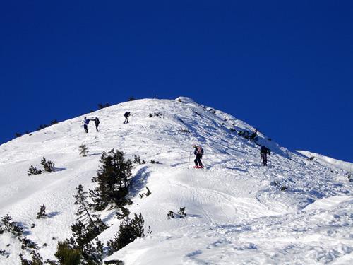 Foto: vince 51 / Schneeschuh Tour / Mit Schneeschuhen auf den Ochsenälpeleskopf (1905m) / Gipfel in Sicht / 27.01.2007 23:26:16