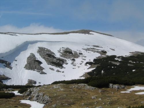Foto: Christian Suschegg / Wander Tour / 3-Gipfel-Runde am Hochangernstock: Kosennspitz - Angerkogel - Nazogl / Unterwegs zum Nazogl - Blick zurück zum Angerkogel. / 29.01.2007 20:26:22
