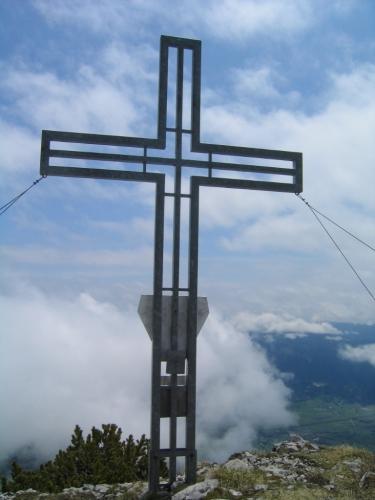 Foto: Christian Suschegg / Wander Tour / 3-Gipfel-Runde am Hochangernstock: Kosennspitz - Angerkogel - Nazogl / Beim Gipfelkreuz am Kosennspitz. / 29.01.2007 20:29:27