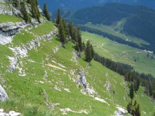 Foto: Christian Suschegg / Wander Tour / 3-Gipfel-Runde am Hochangernstock: Kosennspitz - Angerkogel - Nazogl / Aufstieg auf breiten Grasbändern über die typischen Felsstufen - bei Nässe kann es sehr rutschig werden. / 29.01.2007 20:34:42