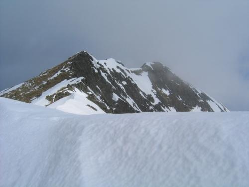 Foto: Christian Suschegg / Skitour / Tischfeldspitze (2268m) / Am Gipfelgrat der Tischfeldspitze / 01.02.2007 21:24:50