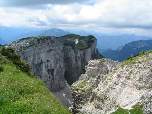 Foto: Christian Suschegg / Wander Tour / Greimuth (1871m) - Atterkogel (1826m) / Blick vom Greimuth in die senkrechten Felsabstürze von Hochanger und Loser. / 03.02.2007 12:46:54