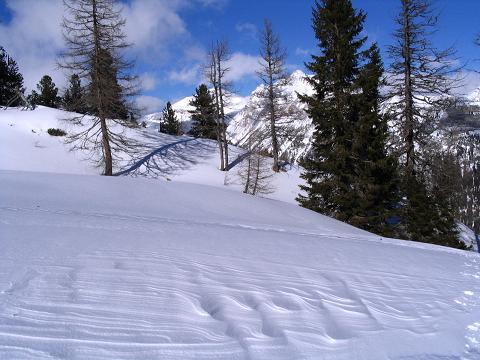 Foto: Andreas Koller / Ski Tour / Von Tweng auf den Rosskogel (2149 m) / Vom Wind geformte Schneeformationen / 05.02.2007 21:35:55