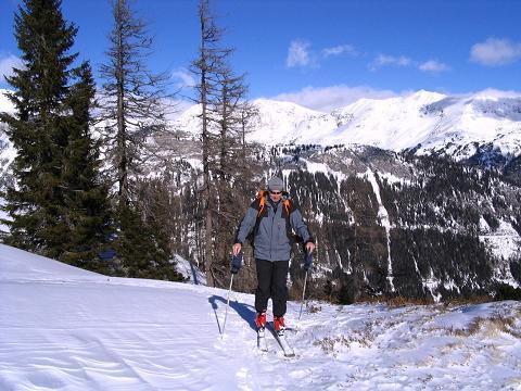 Foto: Andreas Koller / Ski Tour / Von Tweng auf den Rosskogel (2149 m) / Wohlverdiente Rast auf 1850 m / 05.02.2007 21:35:48