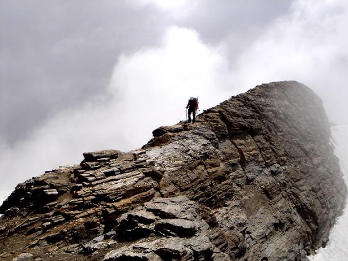 Foto: Manfred Karl / Kletter Tour / Schareck, Linke Nordwandrinne / Gipfelgrat am Schareck / 06.02.2007 08:42:59