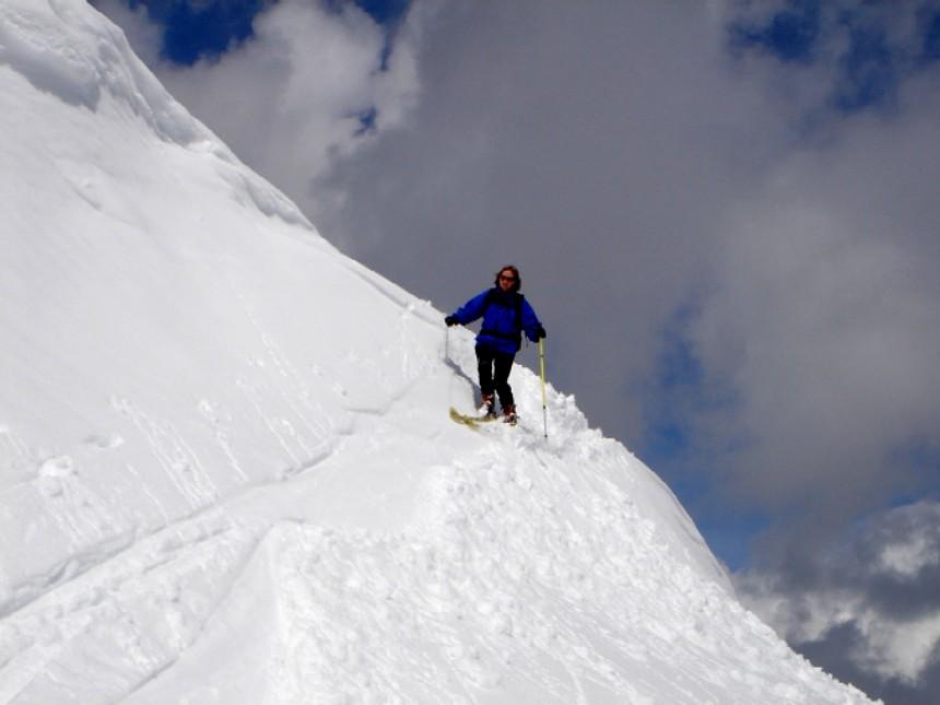Foto: Manfred Karl / Skitour / Scheibleck (2117m) / Einfahrt in den Osthang vom Scheibleck / 07.02.2007 08:39:24