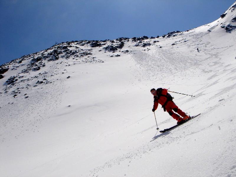 Foto: Manfred Karl / Ski Tour / Gamskarspitz (2491m) / Abfahrt über gut griffigen Schnee im obersten Teil. / 08.02.2007 20:12:02