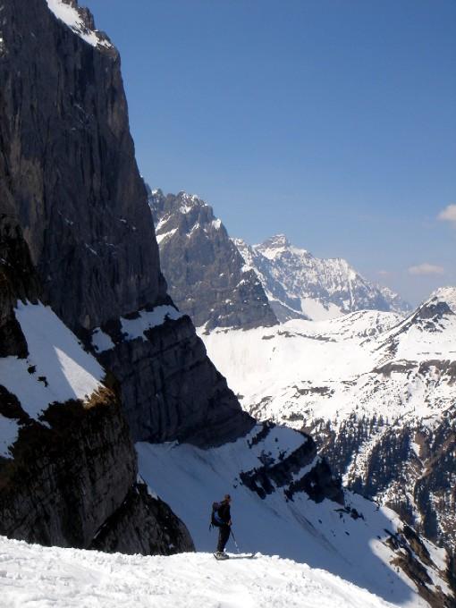 Foto: Manfred Karl / Ski Tour / Hochglück (2573m) / Ebenfalls eindrucksvoll die Abfahrt. / 09.02.2007 07:27:13