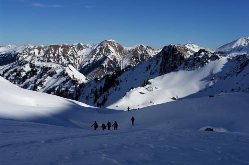Foto: Christian Suschegg / Ski Tour / Über die Ebenbachalm auf den Hochwart (2301m) / Blick über das Nordkar talauswärts. / 11.02.2007 21:04:46