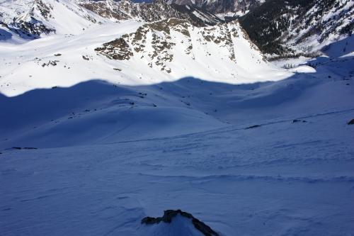 Foto: Christian Suschegg / Ski Tour / Über die Ebenbachalm auf den Hochwart (2301m) / Blick vom Gipfel über den Schlußhang in das Nordkar. / 11.02.2007 21:02:22