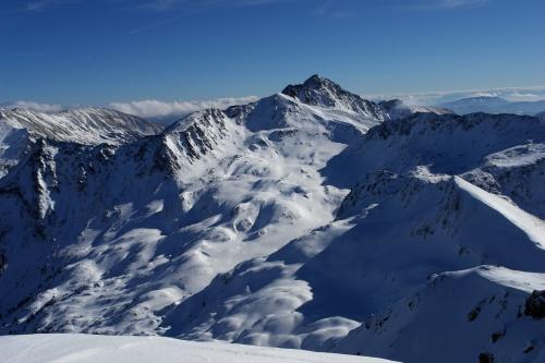 Foto: Christian Suschegg / Ski Tour / Über die Ebenbachalm auf den Hochwart (2301m) / Blick vom Hochwart Richtung Südosten über den Talkenschrein zur Schoberspitze. / 11.02.2007 20:53:23