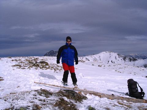 Foto: Andreas Koller / Schneeschuh Tour / Durch das Dürnbachtal auf den Rossberg (2185 m) / Am aussichtsreichen Gipfel des Rossberg / 12.02.2007 03:29:12
