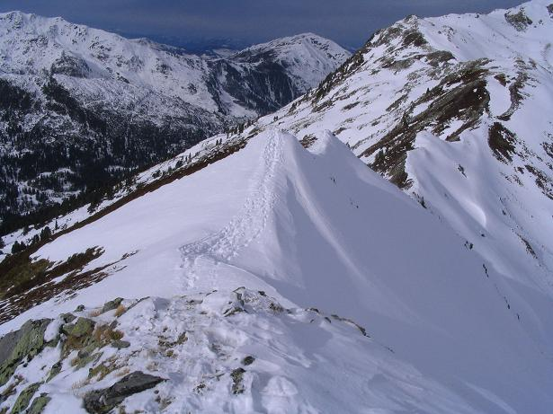 Foto: Andreas Koller / Schneeschuh Tour / Durch das Dürnbachtal auf den Rossberg (2185 m) / Der Verbindungsgrat zum Steinkogel / 12.02.2007 03:28:43