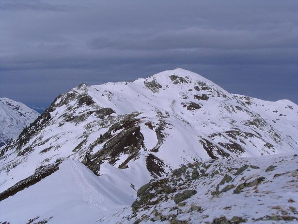 Foto: Andreas Koller / Schneeschuh Tour / Durch das Dürnbachtal auf den Rossberg (2185 m) / Blick nach N zum Steinkogel (2299 m) / 12.02.2007 03:29:42