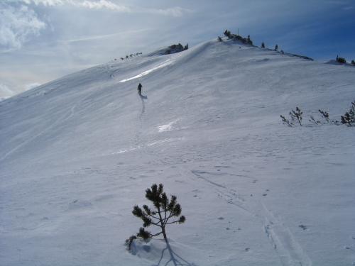 Foto: Christian Suschegg / Ski Tour / Ahornkogl (2001m) / Auf den letzten Metern zum Gipfel / 12.02.2007 19:32:26