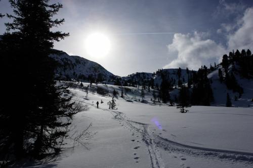 Foto: Christian Suschegg / Ski Tour / Ahornkogl (2001m) / Nahe dem Talschluß dreht der Weg Richtung Osten. / 12.02.2007 19:37:39