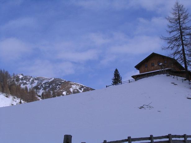 Foto: Andreas Koller / Ski Tour / Vom Sadnighaus auf die Melenwand (2570 m) / Das Sadnighaus / 12.02.2007 13:56:57