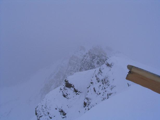 Foto: Andreas Koller / Ski Tour / Vom Sadnighaus auf die Melenwand (2570 m) / Felsabbrüche auf der Ostseite des Melenwand Kopfes / 12.02.2007 13:53:21