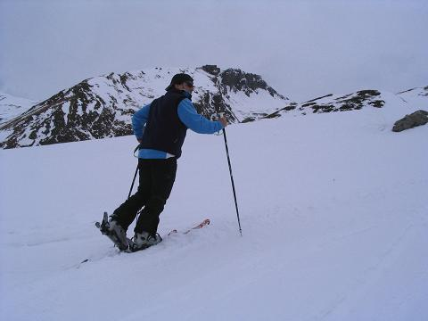 Foto: Andreas Koller / Ski Tour / Vom Sadnighaus auf die Melenwand (2570 m) / Bei derBurgstaller Alm mit Rotwandeck (2715 m) im Hintergrund / 12.02.2007 13:55:37