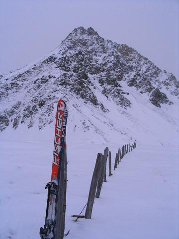 Foto: Andreas Koller / Ski Tour / Vom Sadnighaus auf die Melenwand (2570 m) / Am Schobertörl mit Blick auf die Magernigspitze (2644 m) / 12.02.2007 13:54:09