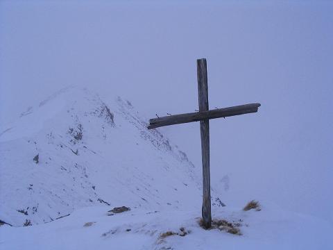 Foto: Andreas Koller / Ski Tour / Vom Sadnighaus auf die Melenwand (2570 m) / Am Gipfel des Melenwand Kopfes / 12.02.2007 13:53:43