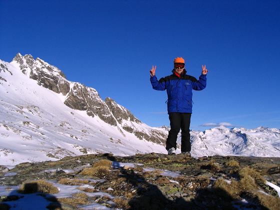 Foto: Andreas Koller / Ski Tour / Innergschlöss und Zeigerpalfen (2506 m) / Bereit zur schönen Abfahrt zum Matreier Tauernhaus / 12.02.2007 19:25:21