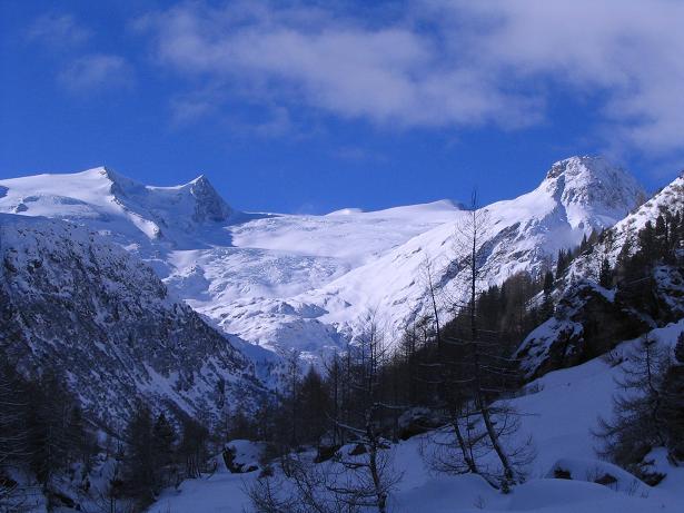 Foto: Andreas Koller / Skitour / Innergschlöss und Zeigerpalfen (2506 m) / Der Großvenediger und seine Trabanten / 12.02.2007 19:36:13